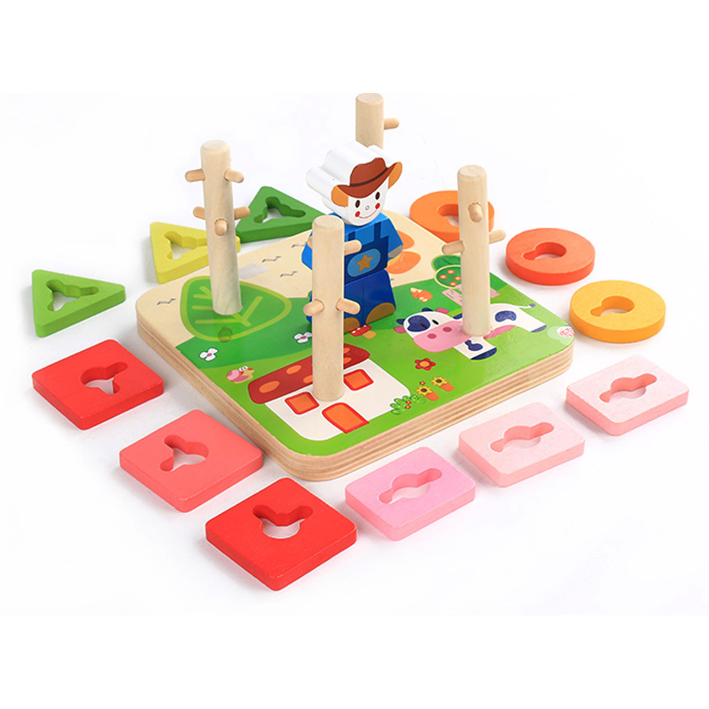 Home Nice Montessori Educational Wooden Geometric Sorting Board Montessori Kids Educational Toys Building Puzzle Child Gift Yd2964h To Rank First Among Similar Products