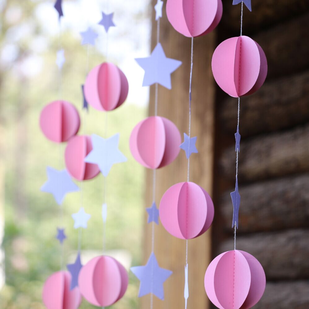 5pcs Pink Baby Shower Diy Mobile Nursery Hanging Decor In Party Backdrops From Home Garden On Aliexpress Alibaba Group