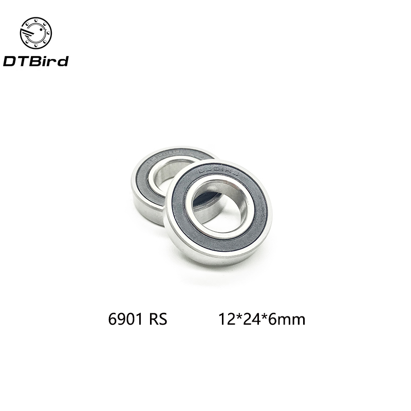 10 pcs 6901 2RS Deep groove ball bearing,bearing steel 12X24X6 mm 1 piece bu3328 6 6 33 27 5 29 5 mm z25 guide rail u groove plastic roller embedded dual bearing
