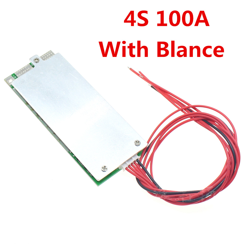 4S 100A 12V Protection Board With Balanced BMS Lithium Iiron Phosphate 3.2V UPS inverter energy storage 12v 4s lithium iron phosphate protection board 3s polymer lithium battery protection board 90a current protection board