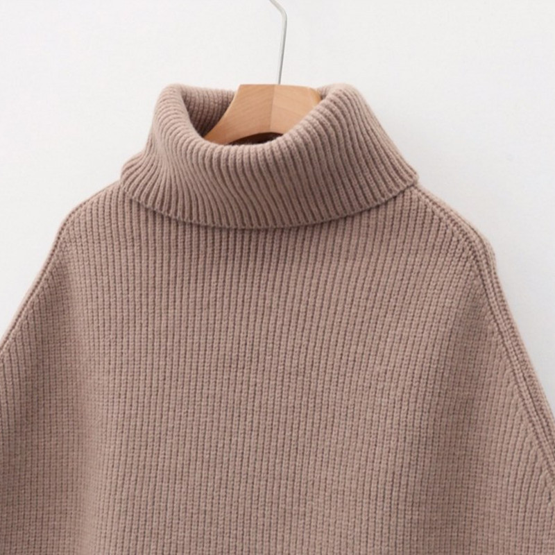 Pullover Autumn Spring Loose New Women Knitted Sweater Sleeveless 2019 black Sweaters Turtleneck Lazy Tea Ladies Vest Beige milk Mujer Female FwFqpXB