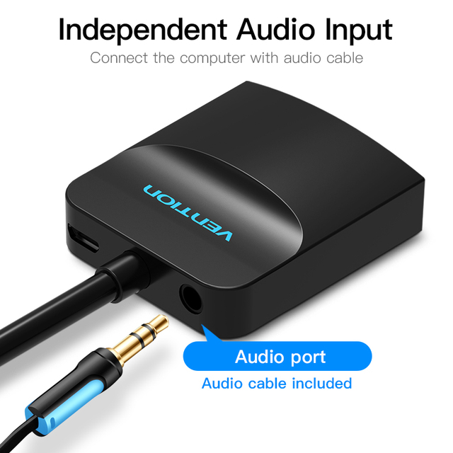 VGA to HDMI adapter with Audio Support 1080P