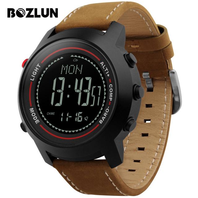 Bozlun MG03 Мужчины Спортивные Часы Многофункциональный Цифровой Наручные Часы Горы Высота Давления Температура Компас Relógio