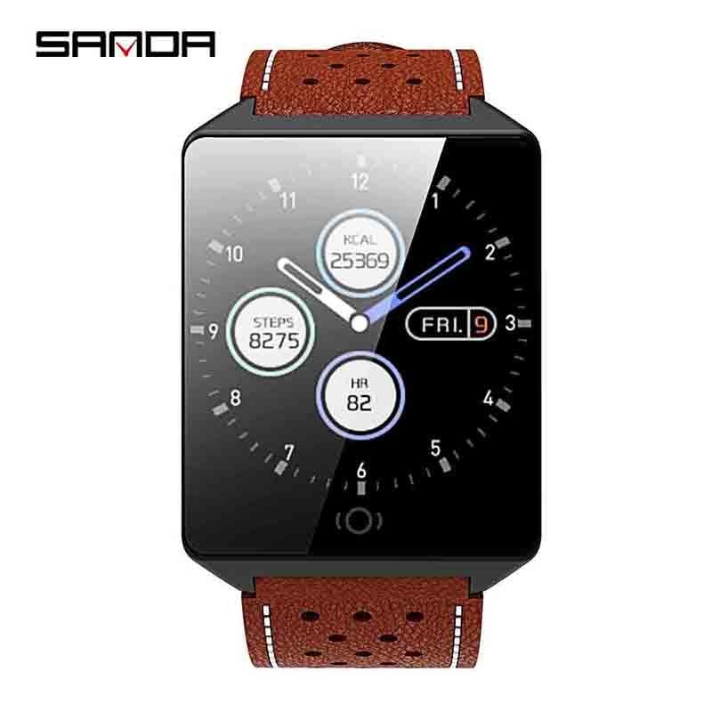 SANDA montre Smart watch CK19 IP67 Étanche Trempé Verre Moniteur de Fréquence Cardiaque Sang Pression Fitness Tracker Hommes Femmes Smartwatch