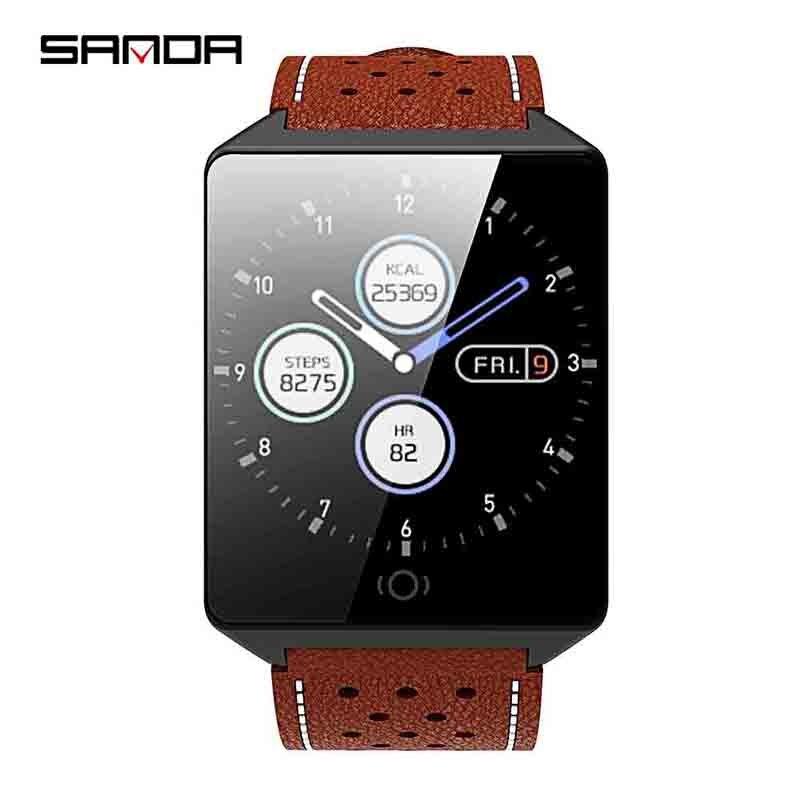 c5d7d27ff398 SANDA reloj inteligente CK19 IP67 impermeable de templado de vidrio de  Monitor de ritmo cardíaco sangre presión Fitness Tracker de las mujeres de  los ...