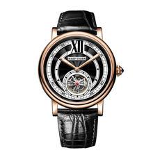 Reef relógios de luxo tiger/rga192, relógios luxuosos para homens, pulseira de couro genuíno de ouro rosê