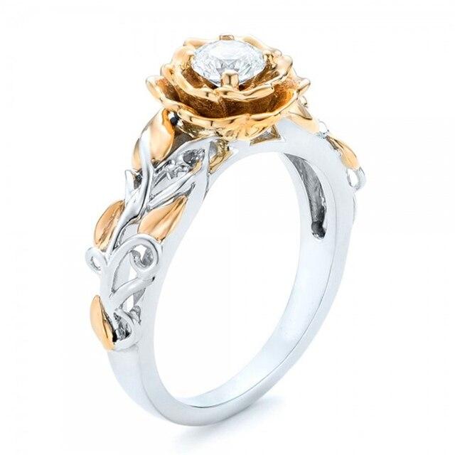 Aliexpress.com : Buy 2017 New Fashion Gold Silver Flower ...