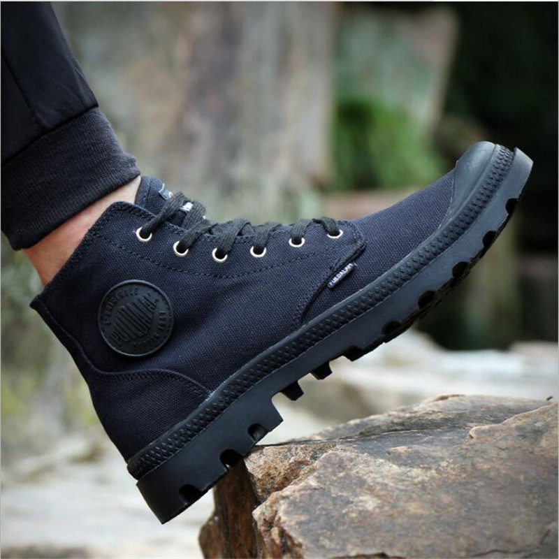 New 2018 High Quality Men Canvas Shoes Fashion High top Men's Casual Shoes Breathable Canvas Man Lace up Brand Shoes Black 39-45 new spring summer men casual shoes breathable black high top lace up canvas shoes espadrilles 2018 fashion white men shoes flat