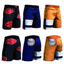 New Anime Dragon Ball Z Naruto Men's Summer Casual Shorts Super Saiyan Son Goku Vegeta Cell Piccolo 3D Print Beach Shorts(China)