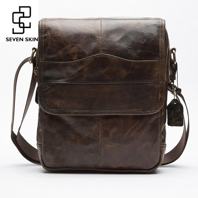 e243abfd518a Top Genuine Cowhide Leather High Capacity Design Crossbody Shoulder Bag Men  Messenger Bag Men Small Bag High Quality Leisure Bag