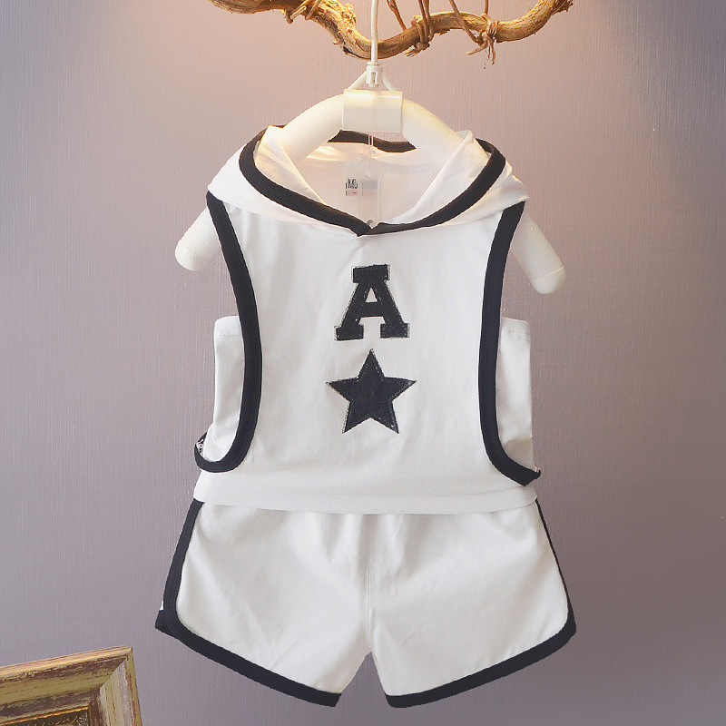 Boys Summer Colothing Sets Toddler Casual Cotton Coats+short Pants 2pcs Tracksuits For Bebe Boys Newborn Baby Sports Suits Mother & Kids Clothing Sets