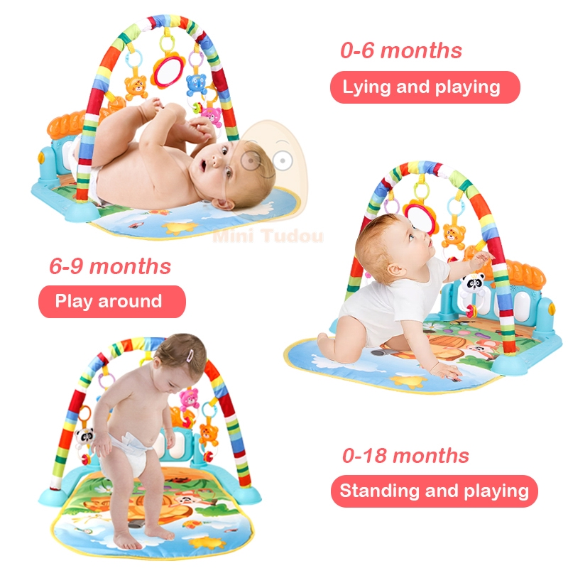 Baby Play Mat Kids Rug Educational Puzzle Tapis Carpet With Piano Cute Animal Playmat Baby Crawling