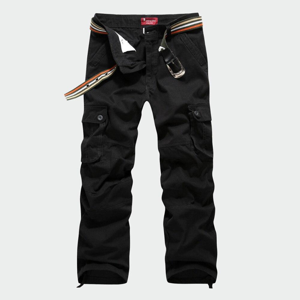 2017 Neue Ankunft 100% Baumwolle Hohe Qualität Mens Military Cargo Pants Multi Taschen Hosen Beiläufige Lose Hosen Größe 30-44