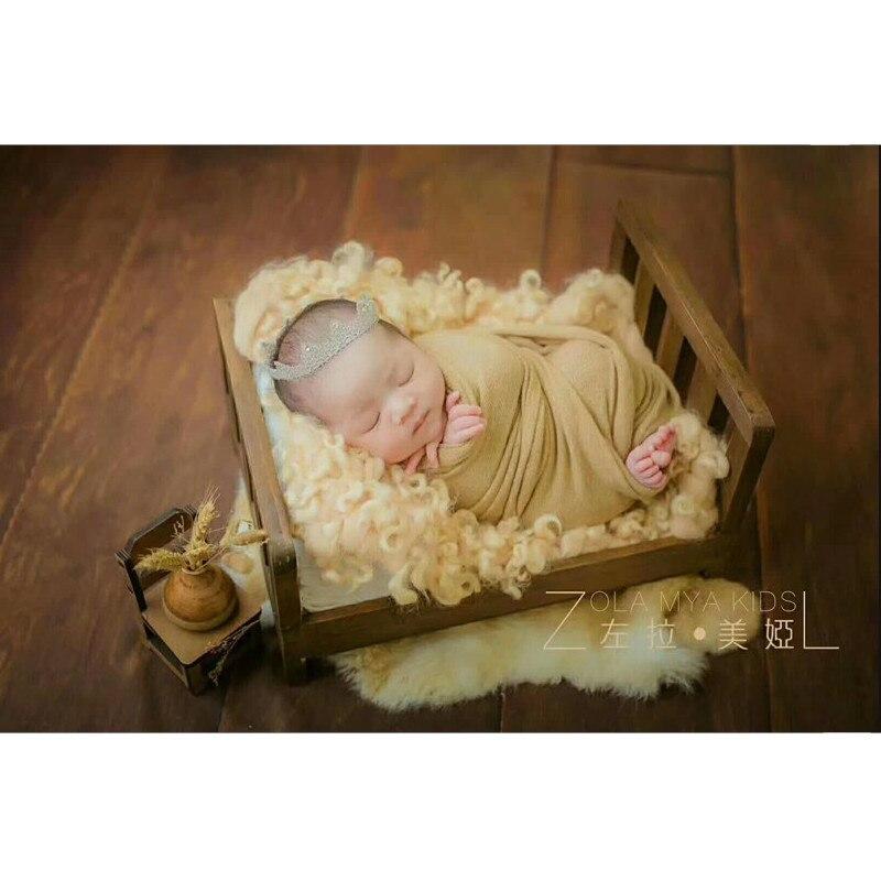 Image 5 - Реквизит для фотосъемки новорожденных, деревянная Съемная кровать, фон для детской фотосъемки, аксессуары Flokati, студийный реквизит для фотосъемки новорожденных-in Шапки и кепки from Мать и ребенок on AliExpress