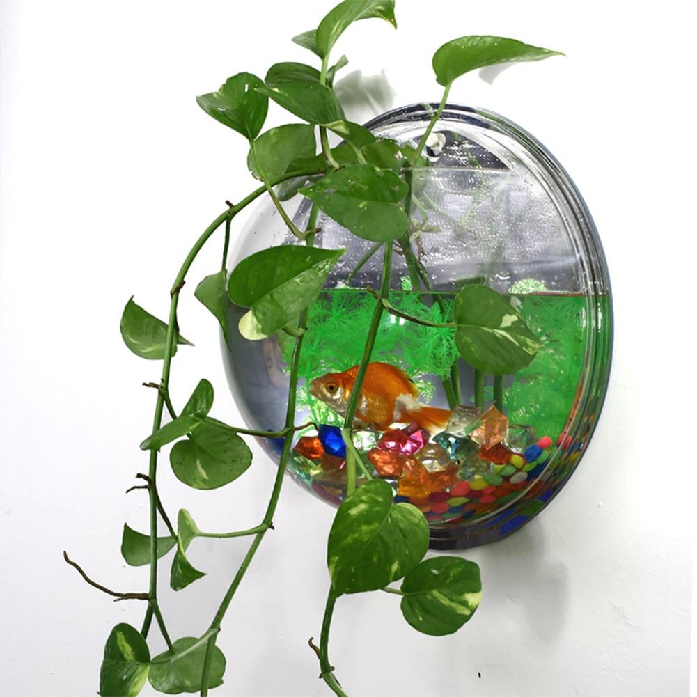 Popular aquarium betta buy cheap aquarium betta lots from for Fish bowl with plant on top