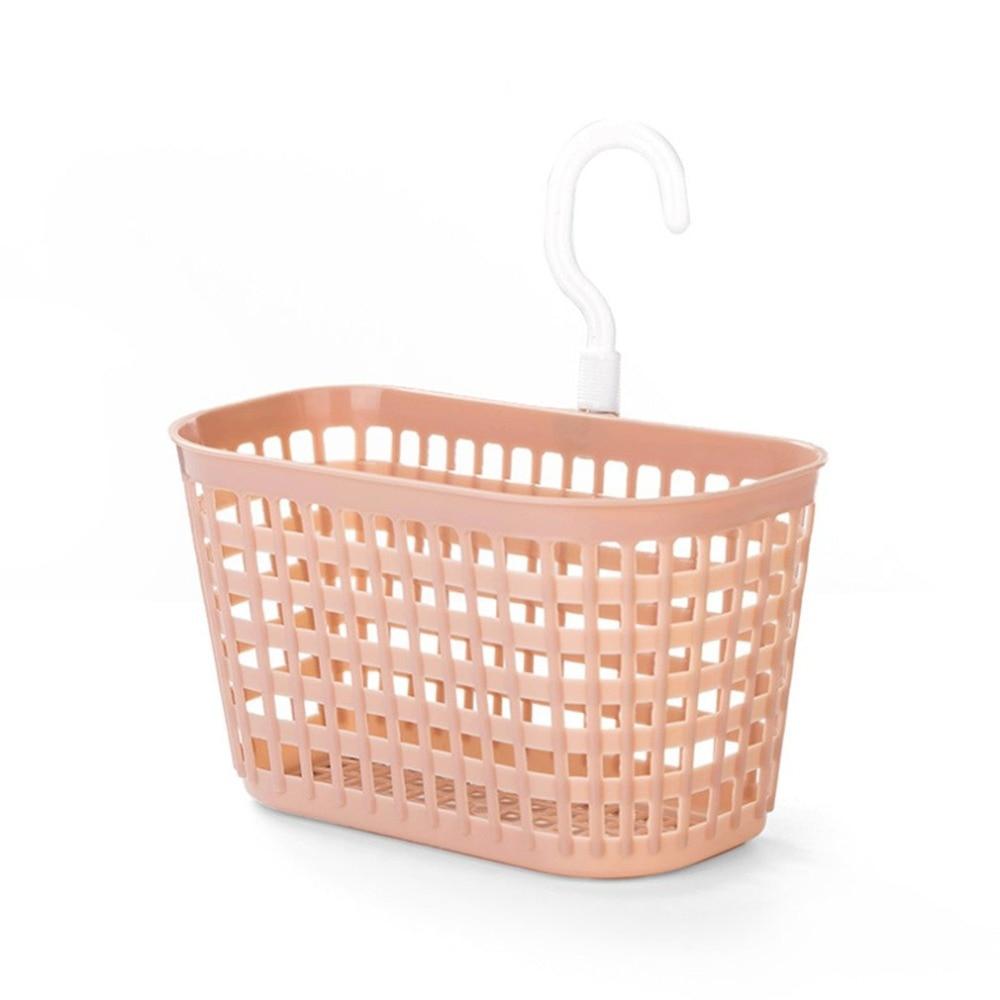 Plastic bathroom hanging basket bathroom wall hanging wash basket hanging drain storage basket for Hanging baskets for bathroom storage
