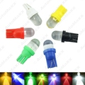 DC12V 5-Color T10 194 168 1-LED Convex LED Wedge LED Light Bulbs for Car Dashboard #J-3802
