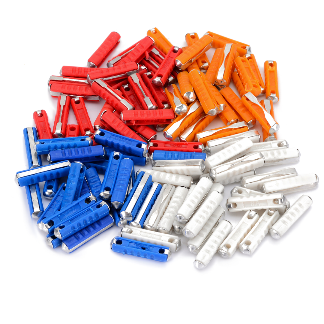 20/40/100pcs Electrical Car <font><b>Fuses</b></font> Kit 5A 8A <font><b>16A</b></font> 25A Classic <font><b>Fuse</b></font> For Continental Car <font><b>Fuse</b></font> White/Blue/Yellow/Red image