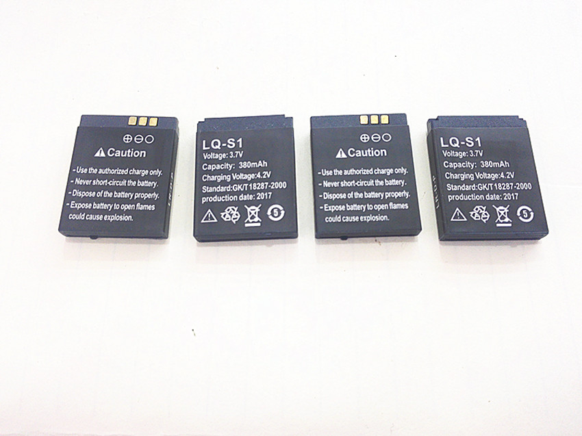 Free shipping 3.7V 380mAh Rechargeable li Polymer Li-ion Battery For DZ09 A1 W8 smart watch battery mobile phone 512431 502431
