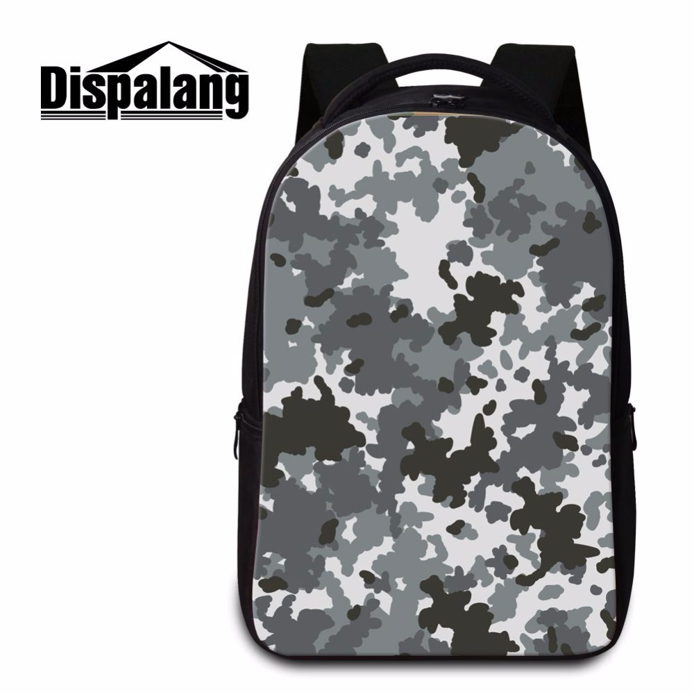 Dispalang индивидуальные камуфляж Дети школьный рюкзак женщин Back Pack сумка большая емкость ноутбук рюкзак сумка для ноутбука