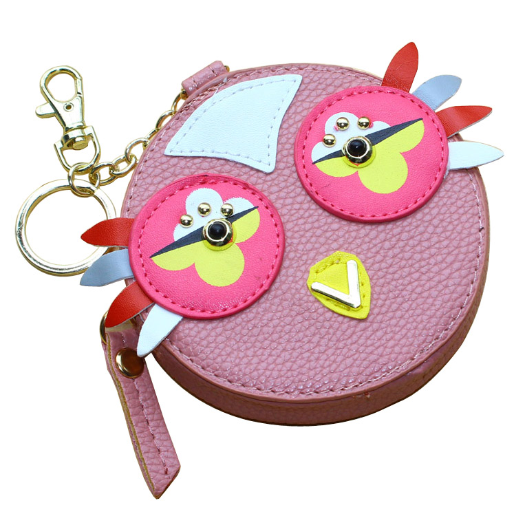 Fashion Women Wallets Lady Moneybags Keychain Coin Purse Woman Mini Wallet ID Cards Holder Round Cartoon Purses New Moeny Bags wallets blue color lady purses cartoon rabbit coin purse pocket long women moneybags wallet cards holder burse bags