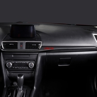 Fit For mazda 3 Axela 2014 2017 dashboard Central control decoration trim products accessory Carbon fiber