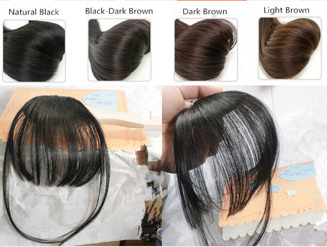 4 Colors Super Thin Clip In Front Hair Bangs Fringe Hair Extension