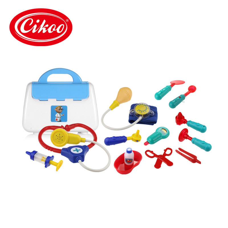 13 Pcs/Set Children Toys Cosplay Nurse Doctor Role Pretend Plastic Medical Box Kit Kids Educational Toy Classic Gifts BM