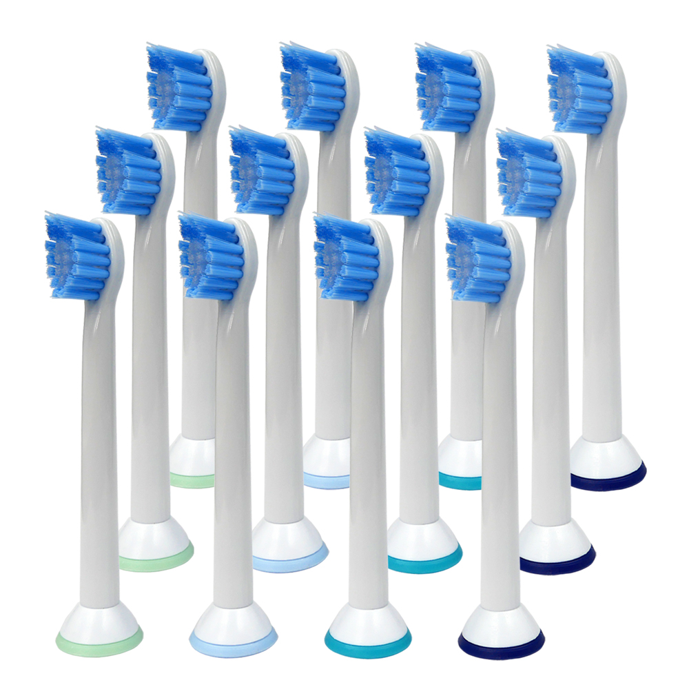 12PCS Sonic Replacement Toothbrush Heads HX6084 for Philips Sonicare ProResults fits DiamondClean Flexcare Series HealthyWhithe image