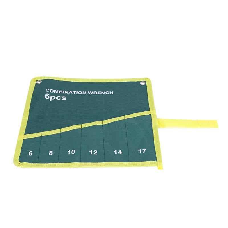 Multi-Bolso Canvas Roll Up Saco de Armazenamento Ferramentas Alicate Chave Chave Titular Organizador