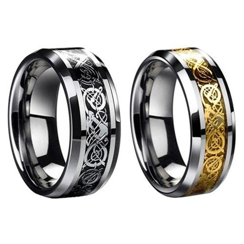 Fashion Celtic Dragon Stainless Steel Anium Men S Wedding Band