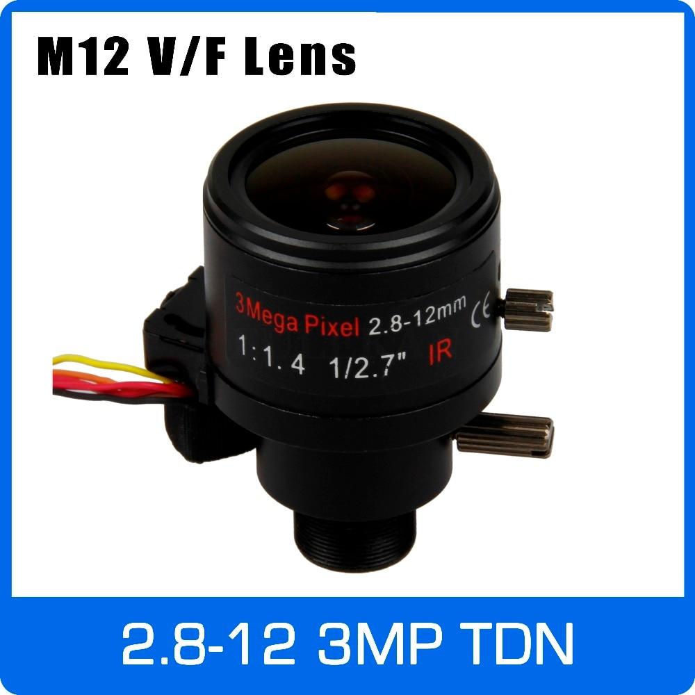 3Megapixel Varifocal CCTV Lens 2.8-12mm M12 Mount 1/2.7 inch with IR-CUT and DC-IRIS For 720P/1080P IP/AHD CCTV Camera3Megapixel Varifocal CCTV Lens 2.8-12mm M12 Mount 1/2.7 inch with IR-CUT and DC-IRIS For 720P/1080P IP/AHD CCTV Camera