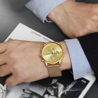 LIANDU 3eyes Military Mens Watch Women Men Simple Stainless Steel Top Brand Luxury Wrist Watches Analog