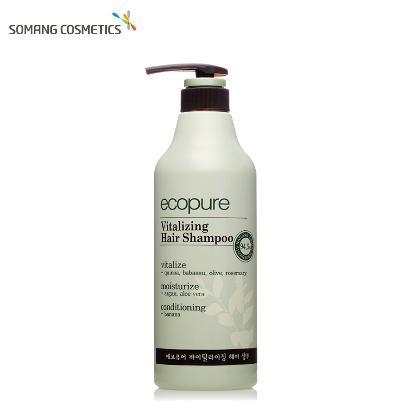 Somang 500ml Korean Ecopure Vitalizing Hair Shampoo Oil Control Anti Dandruff Itching Cleansing Professional Hair