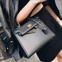 Новый известная марка класса люкс Для женщин сумка модные элегантные дамы Топ-ручка мешок HASP Высокое качество PU кожаная сумка Оптовая