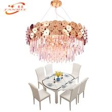 Modern K9 Crystal Prism Chandelier Hanging Lighting LED Gold Stainless Steel Chandeliers Lamp Living Dining Room Suspended Light цены