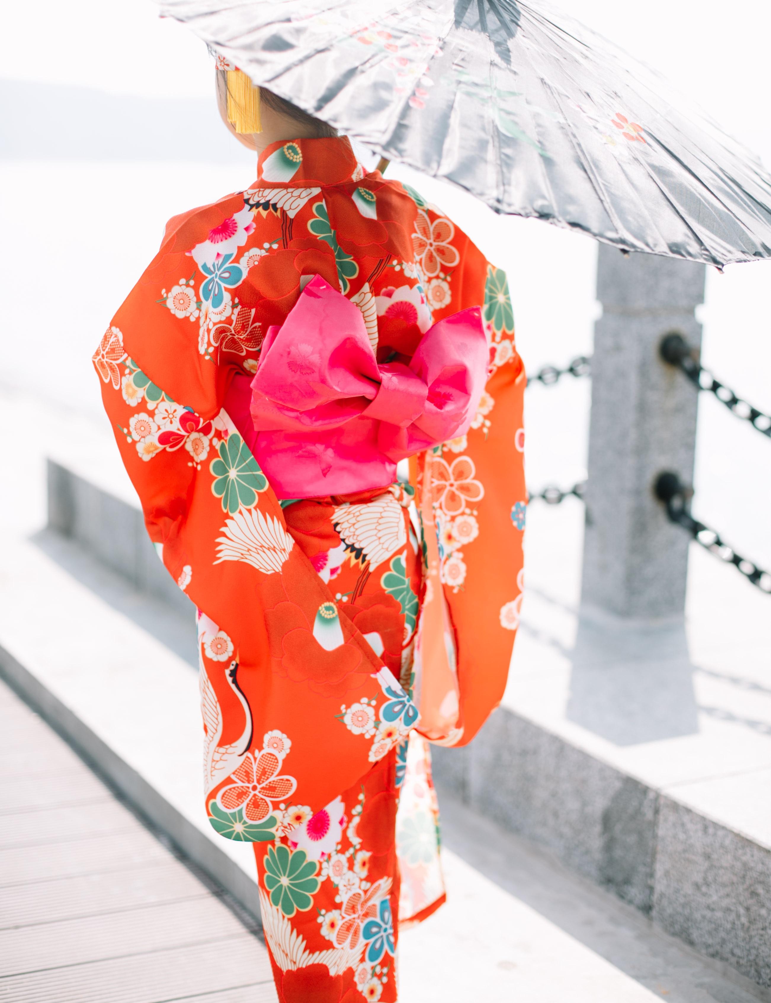 2018 autumn black japanese national baby girl kimono dress children yukata with obi kid girl performance dance dress flower obi tie outerwear with epaulet detail