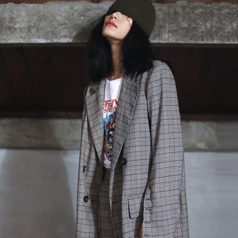 Cheville Grey Mesure Tendance Grey dark Costume Femmes Printemps 2019 De Bureau Sur longueur Portant Manteau Lady Pantalon Style TPqxY6Z