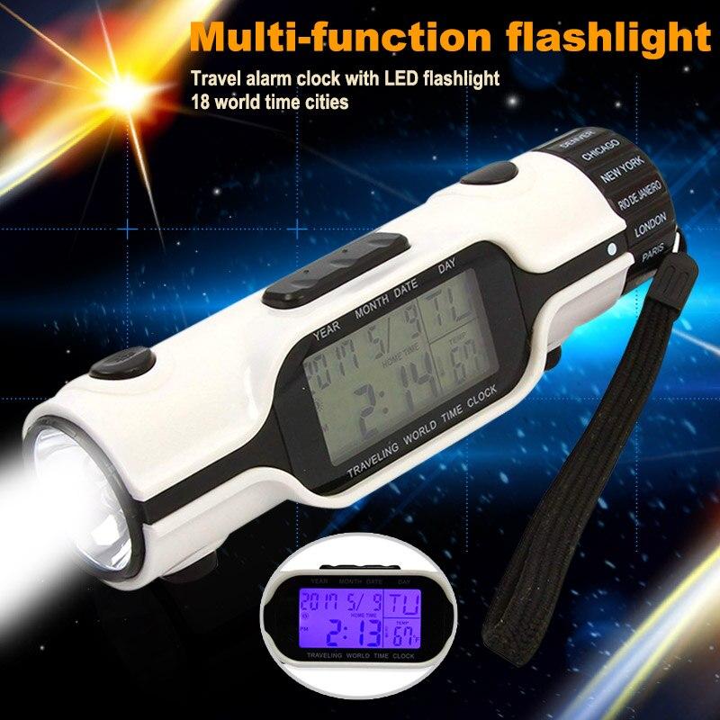 Straightforward Electronic Digital Led Alarm Clock Flashlight Perpetual Calendar Multifunction For Travel Sale Price Led Flashlights Lights & Lighting