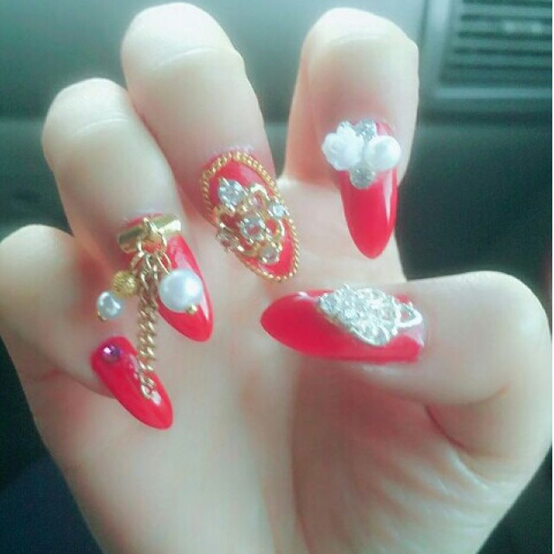 5BoxPack Wholesale Fashion Boat Stone Design 3D Nail Jewelry Strass
