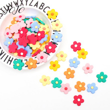 JOJO BOWS 10pcs DIY Crafts Supplies Flower Pattern Flatback Planar Resin Accessory Holiday Decoration Phone Case Apparel Sticker