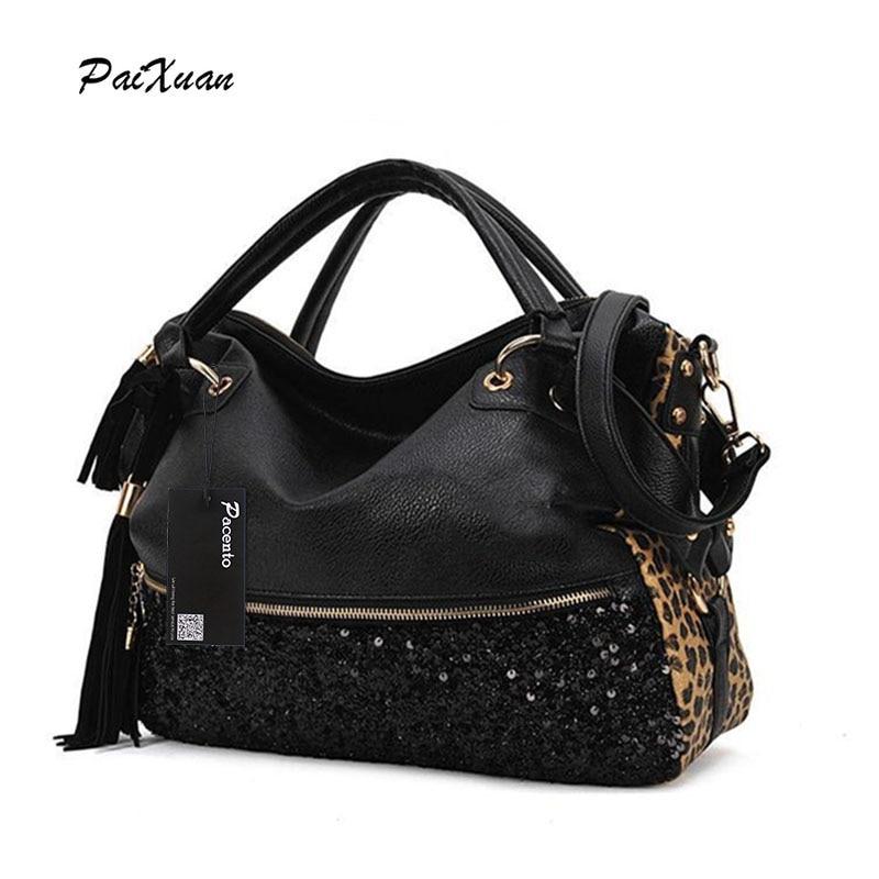 2017luxury Handbags Women Bags Designer Leopard Print Female Shoulder Bag  High Quality Leather Fashion Tote Bag 0177ba62e6