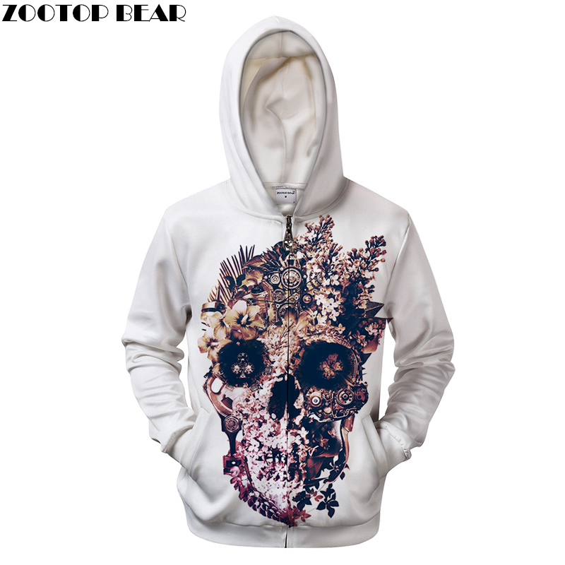 One Piece Flower By ALI Artist Unisex Zip Hoodie 3D Print Zipper Sweatshirts Coat Men Casual Style Thick Streetwear Clothes 2018