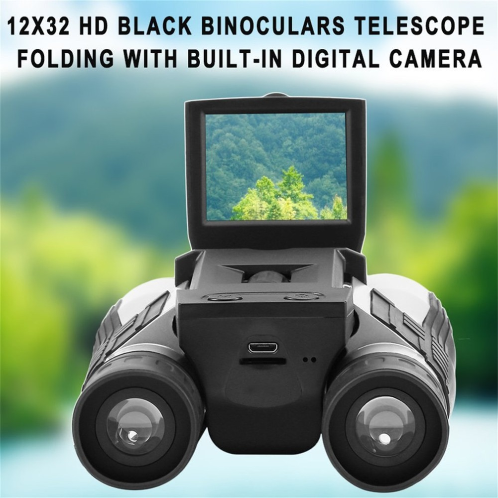 Full HD 1080P, Digital Camera, 2.0 LCD Binoculars Telescope, Folding Telescope, Built-in Digital Camera 2 lcd hd 1080p mms digital infrared