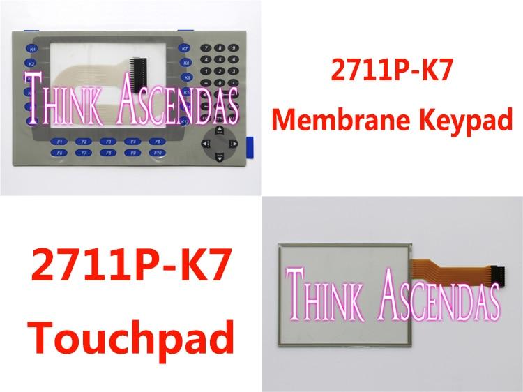 все цены на  5pcs New PanelView Plus 700 2711P-K7 2711P-K7C6D1 2711P-K7C6B1 2711P-K7C6B2 2711P-K7C6D2 Membrane Keypad / Touchpad  онлайн