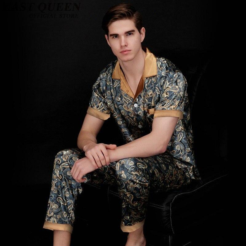 Schlaf- Und Hauskleidung Für Herren Mens Pyjamas Schlaf Bottoms 2018 Neuheiten Herren Sexy Nachtwäsche Seide Sexy Männlichen Pyjamas Mens Silk Pyjamas Anzug Aa1293 Letzter Stil