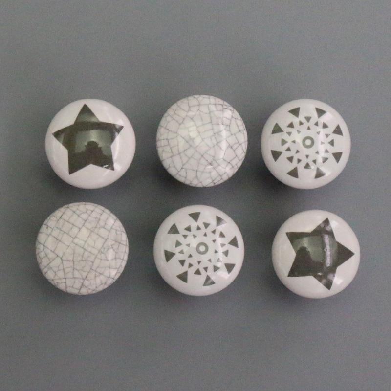 2PCS Antique Ceramic Knobs, Handles Pulls For Cabinets, Cupboard Dresser, Drawers, Kitchen Furniture Or Kids Room