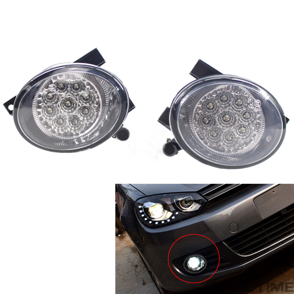For VW Golf Jetta Eos Tiguan Beetle MK6 2009 2017 Auto Fog Lamp Car Front Bumper