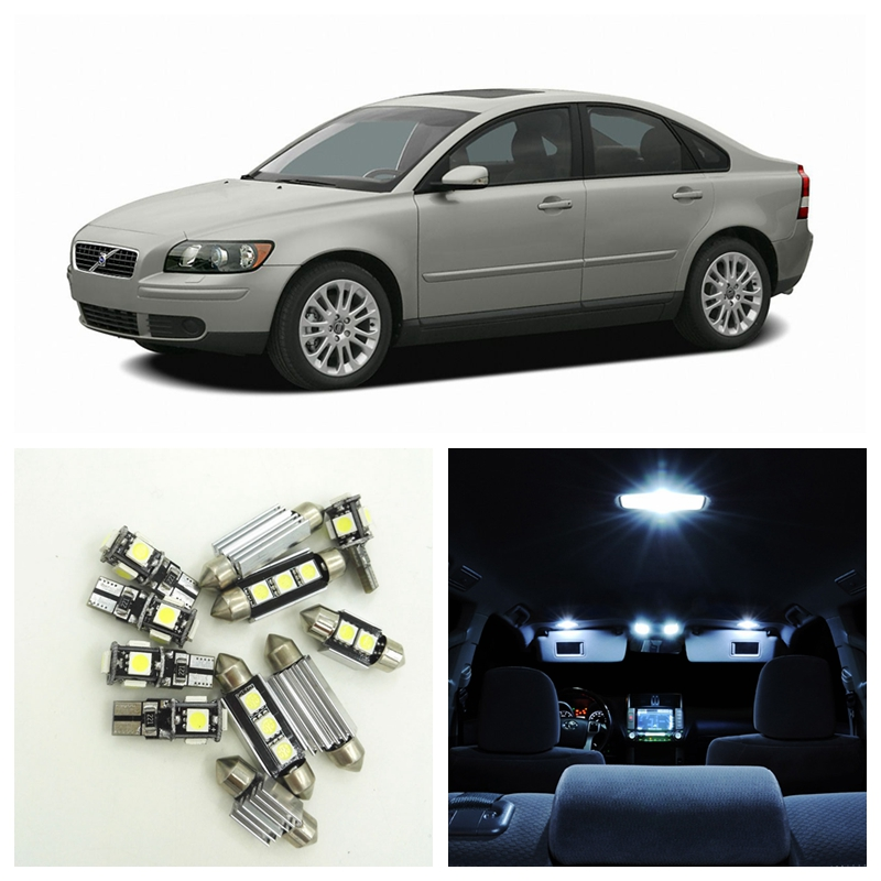 15pcs White Canbus Car LED Light Bulbs Interior Package Kit For 2004 2005 2006 Volvo S40 Map Dome Trunk Door Lamp No Error цена