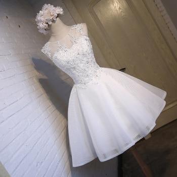 23d5e1db4 Blanco 8th grado corto vestidos de baile de fiesta 2019 vestidos de  graduación vestidos de formatura festa curto de gala en jurken